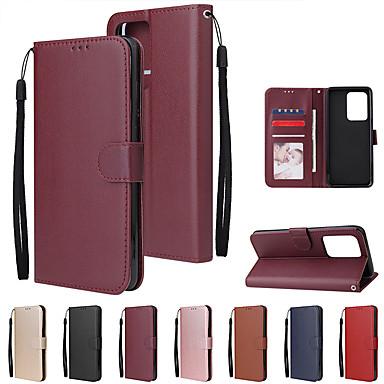 Недорогие Чехол Samsung-чехол для samsung galaxy s20 ultra / s20 plus / s20 / s10 plus / s10 e / s10 / note 10 lite / note 10 pro / note 10 / a91 / a81 / a71 / a51 / a41 / a70 держатель карты откидной магнитный чехол для