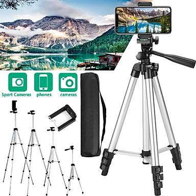 저렴한 삼각대 셀카봉-조정 가능한 전화 카메라 삼각대 스탠드 스마트 폰 디지털 카메라 캠코더 dslr slr 용 전문 유연한 알루미늄 사진 삼각대