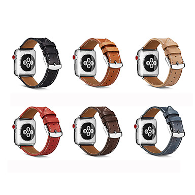 abordables Correas para Apple Watch-correa de reloj para apple watch series 5 4 3 2 1 apple watch series 6 apple watch se apple leather loop correa de muñeca de cuero genuino