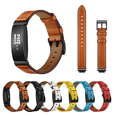 Недорогие Аксессуары для смарт-часов-Ремешок для часов для Fitbit Inspire Fitbit Кожаный ремешок Натуральная кожа Повязка на запястье