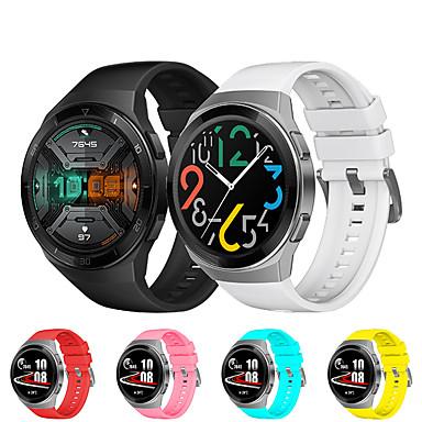 Недорогие Ремешки для часов Huawei-Ремешок для часов для Huawei Watch GT 2e Huawei Спортивный ремешок силиконовый Повязка на запястье