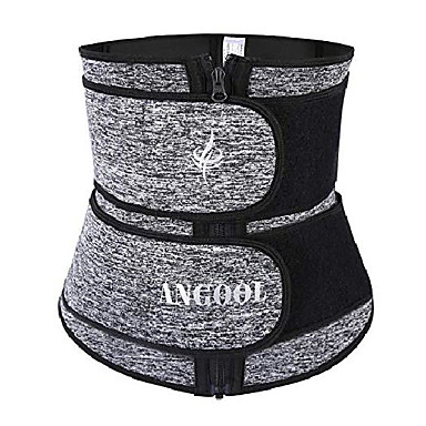baratos Acessórios de Fitness-espartilho de treino de cintura suor neopren para perda de peso feminina com zíper ykk, cinto de corte modelador de corpo cincher