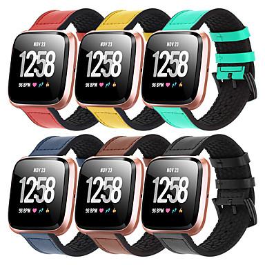 Недорогие Аксессуары для смарт-часов-кожаный силиконовый ремешок для часов для fitbit versa 2 / versa lite / versa сменный браслет ремешок на запястье браслет