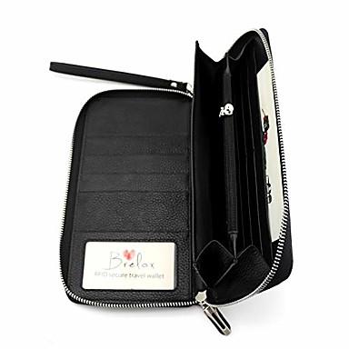 billige Rejsetasker-brelox rejsepung familie pasholder - rfid dokument arrangør til 4 5 6 pas - ægte læder - sort