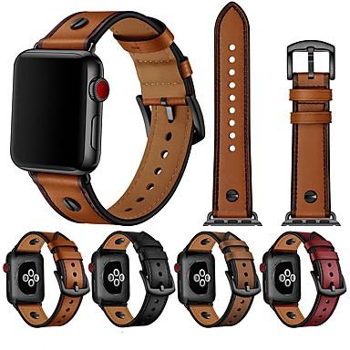 Недорогие Ремешки для Apple Watch-Ремешок для часов для Серия Apple Watch 5/4/3/2/1 / Apple Watch Series 6 Apple Классическая застежка / Бизнес группа Стеганная ПУ кожа / Натуральная кожа Повязка на запястье