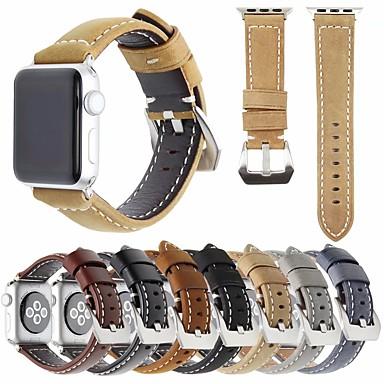 tanie Opaski do Apple Watch-Watch Band na Apple Watch Series 5/4/3/2/1 Jabłko Klasyczna klamra Pikowana skóra PU Opaska na nadgarstek