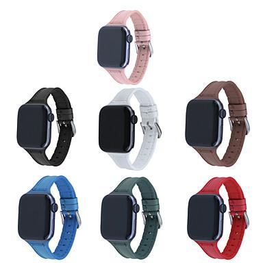 Недорогие Ремешки для Apple Watch-ремешок для часов Apple Watch Series 5/4/3/2/1 Apple, классическая пряжка, стеганая искусственная кожа / силиконовый ремешок на запястье