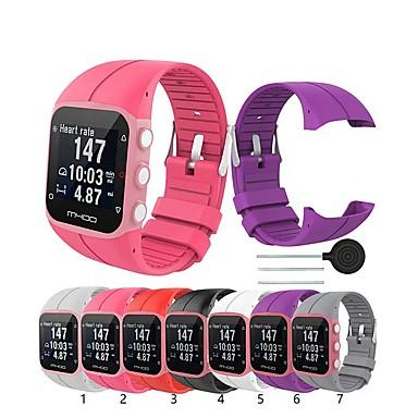 Недорогие Аксессуары для мобильных телефонов-Ремешок для часов для POLAR M400 / POLAR M430 Polar Классическая застежка силиконовый Повязка на запястье