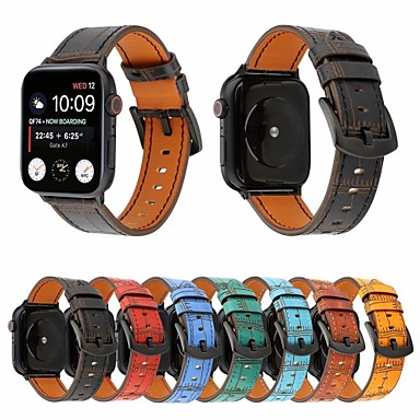 Недорогие Аксессуары для мобильных телефонов-ремешок для часов apple watch series 5/4/3/2/1 apple классическая пряжка ремешок из натуральной кожи на запястье