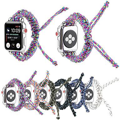 Недорогие Ремешки для Apple Watch-Нейлон тканый для серии Apple Watch 5/4/3/2/1 ремешок для часов парашютный трос на открытом воздухе ремешок для браслета для iwatch 38 мм / 40 мм / 42 мм / 44 мм