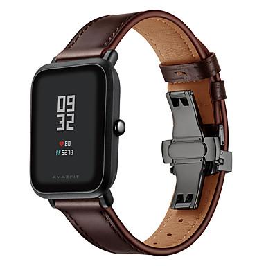 Недорогие Аксессуары для смарт-часов-Ремешок для часов для Huami Amazfit Bip Younth Watch / Амазфит ГТС Amazfit Кожаный ремешок Натуральная кожа Повязка на запястье