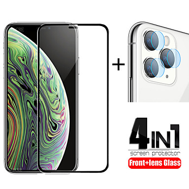 ieftine Folii de Protecție Ecran-Protector de ecran 4-în-1 din sticlă securizată, cu lipici complet, pentru sticlă pentru obiectivul iPhone 11 Pro max