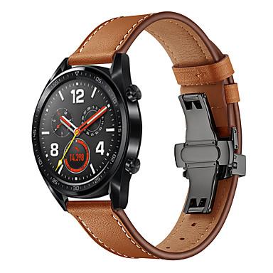 levne Shlédnout pásy pro Huawei-Watch kapela pro Huawei Watch GT / huawei ctí kouzlo / Huawei Watch GT 2 Huawei Kožená smyčka Pravá kůže Poutko na zápěstí