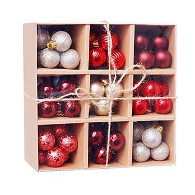 hesapli Ev Dekorasyonu-99 adet Noel topları Noel ağacı için süsler - kırılmaz Noel ağacı süsleri asılı