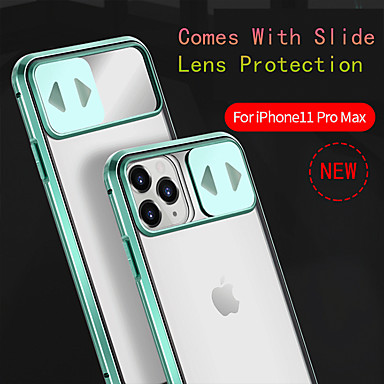 cheap iPhone Cases-Case For iPhone 11ProMax/11Pro/11/iPhone XS Max/XR/XS/7/8Plus/SE 2020 Anti-drop/Shockproof/With Mirror/Flip Cover Mobile Phone Lens Slide Cover 360 All-inclusive Transparent Tempered Glass/Metal