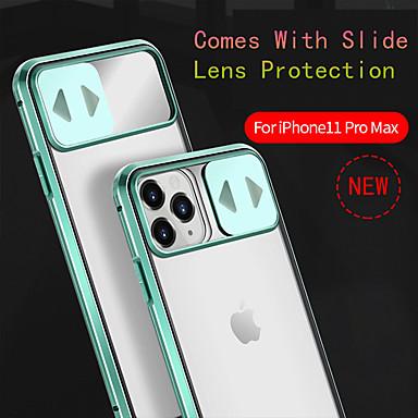 voordelige iPhone-hoesjes-hoesje voor iphone 11promax / 11pro / 11 / iphone xs max / xr / xs / 7 / 8plus / se 2020 anti-drop / shockproof / met spiegel / flip cover mobiele telefoon lens slide cover 360 all-inclusive