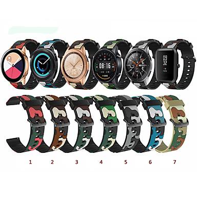 Недорогие Аксессуары для смарт-часов-Ремешок для часов для Samsung Galaxy Watch 46 Samsung Galaxy Классическая застежка силиконовый Повязка на запястье
