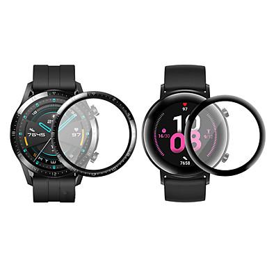 Недорогие Защитные пленки для смарт-часов-3D изогнутый край мягкая прозрачная защитная пленка для huawei watch gt 2 / gt 2e / honor magic watch 2 smartwatch полная крышка экрана протектор (не стекло)