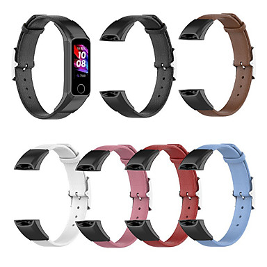 abordables Correas para Huawei-for huawei band 4 strap pulsera de cuero genuino para huawei honor band 5i strap wristband