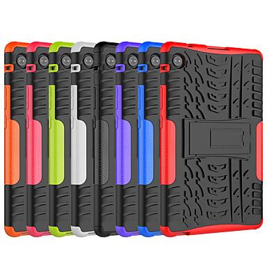 Недорогие Чехлы и кейсы для Huawei-чехол для huawei huawei mediapad t5 10 huawei mediapad m5 lite 10 противоударный с подставкой задняя крышка сплошной цвет tpu pc