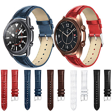 Недорогие Аксессуары для мобильных телефонов-Ремешок для часов для часов Galaxy Watch 3 45 мм / Galaxy Watch 3 41 мм Классическая пряжка Samsung ремешок на запястье из натуральной кожи