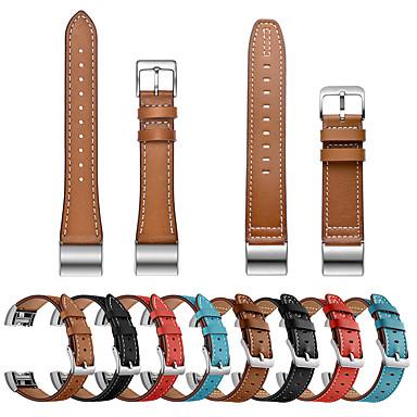Недорогие Аксессуары для смарт-часов-Ремешок для часов для Fitbit Charge 2 / Fitbit Charge 3 / Fitbit Charge 4 Fitbit Кожаный ремешок Натуральная кожа Повязка на запястье