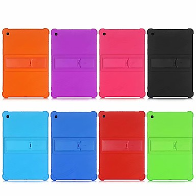 cheap Tablet Cases-Case For Samsung Tab A 10.1(2019) T510 Tab A 8.0(2019) T290 T295 Tab S5E 10.5 SM-T720 T725 Tab S6 Lite (SM-P610 P615) Shockproof with Stand Back Cover Solid Colored Silicone