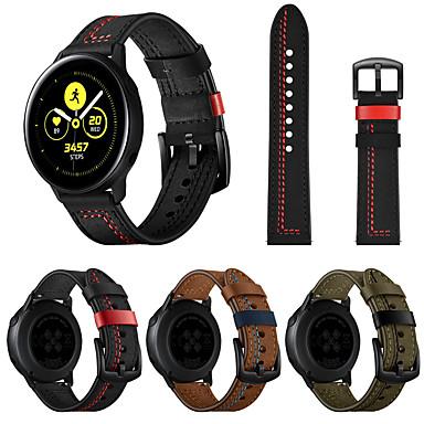 저렴한 삼성 시계 밴드-시계 밴드 용 삼성 Galaxy Watch Active / 삼성 Galaxy Watch Active 2 Samsung Galaxy 가죽 루프 천연 가죽 손목 스트랩