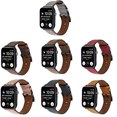 Недорогие Аксессуары для смарт-часов-ремешок для часов для apple watch series 6 / se / 5/4/3/2/1 apple classic пряжка ремешок из натуральной кожи на запястье