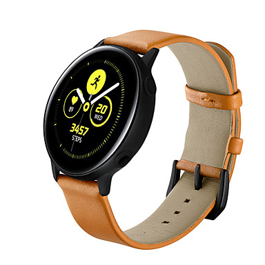 Недорогие Аксессуары для смарт-часов-Ремешок для часов для Samsung Galaxy Watch Active / Samsung Galaxy Watch Active 2 Samsung Galaxy Кожаный ремешок Натуральная кожа Повязка на запястье