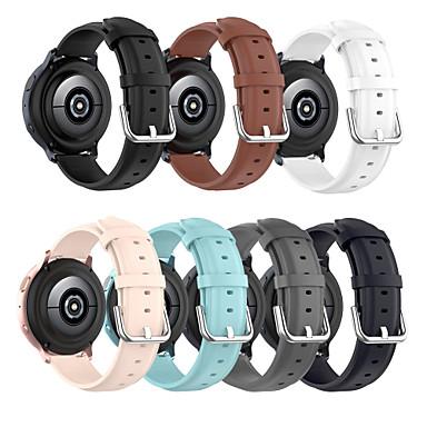 Недорогие Аксессуары для смарт-часов-Кожаный ремешок smartwatch для часов samsung gear s2 / galaxy active / active 2 42 мм / gear sport / watch3 41 мм / galaxy watch 46 мм / gear s3 gear s3 46 мм / watch3 45 мм ремешок из натуральной