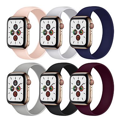 Недорогие Ремешки для Apple Watch-Ремешок для часов для Серия Apple Watch 5/4/3/2/1 Apple Спортивный ремешок силиконовый Повязка на запястье