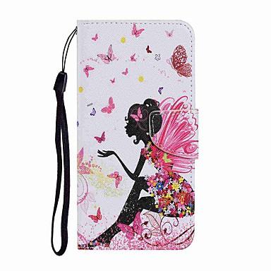 Недорогие Кейсы для iPhone-чехол для apple iphone 12 iphone 11 pro iphone 11 pro max кошелек держатель для карт с подставкой чехлы для всего тела танцующая девушка из искусственной кожи tpu для iphone 11 se (2020) 8 8 plus x xs