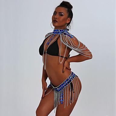 ieftine Bijuterii de Corp-Corp lanț / burtă lanț Ciucure Sexy European Pentru femei Bijuterii de corp Pentru Cadou Mascaradă Ciucure Teracotă Aliaj Negru Auriu Argintiu