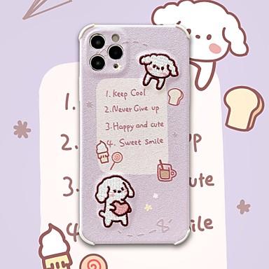 Недорогие Кейсы для iPhone-чехол для iphone 11 узор задняя крышка собака слово фраза мультфильм тпу чехол для iphone 11 pro max / se2020 / xs max / xr xs 7/8 7/8 plus