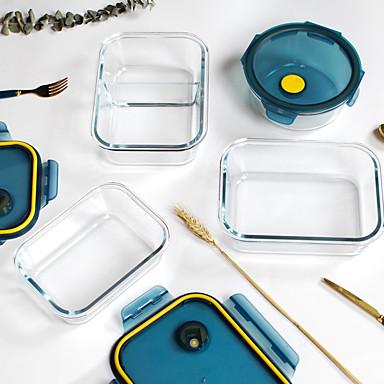 Χαμηλού Κόστους Αποθηκευτικός χώρος κουζίνας-υψηλής ποιότητας κουτί με βοριοπυριτικό γυαλί ανθεκτικό στη θερμότητα με καπάκι 950ml