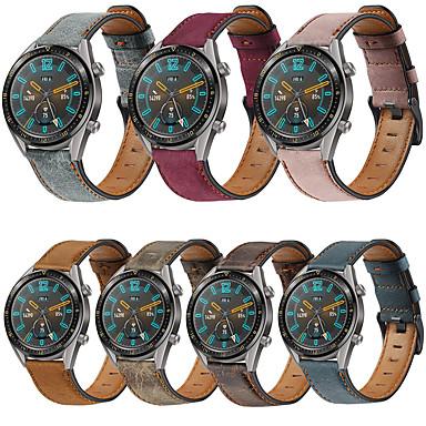 Недорогие Ремешки для часов Huawei-Кожаный ремешок 22 мм для часов huawei gt 2e / gt2 46 мм / gt active / watch 2 pro / honor magic / magic watch 2 46 мм сменный браслет ремешок на запястье браслет