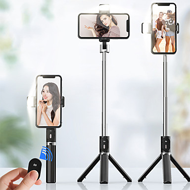 cheap Bluetooth selfie stick-950mm 3in1 Wireless Bluetooth Selfie Stick With Fill Light Foldable Mini Tripod Expandable Monopod for iPhone IOS Android