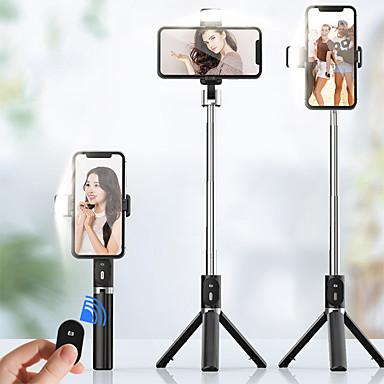 voordelige Bluetooth selfiestick-950 mm 3in1 draadloze bluetooth selfie stick met vullicht opvouwbaar mini statief uitbreidbaar monopod voor iphone ios android