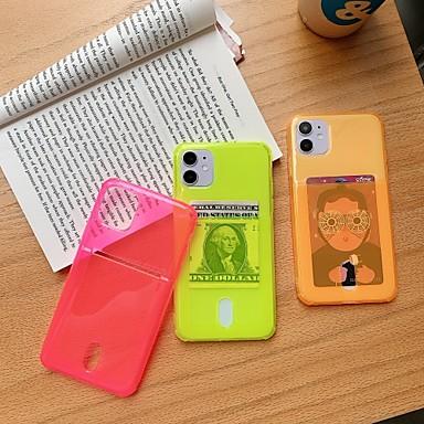 Недорогие Кейсы для iPhone-чехол для iphone 7 8 7plus 8plus x xr xs xsmax se (2020) iphone 11 11pro 11promax iphone 12 светится в темноте держатель карты ударопрочная ультратонкая задняя крышка прозрачная однотонная тпу