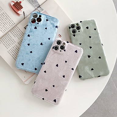 Недорогие Кейсы для iPhone-чехол для iphone 11 узор задняя крышка сердце текстильный чехол для iphone 11 pro max / se2020 / xs max / xr xs 7/8 7/8 plus