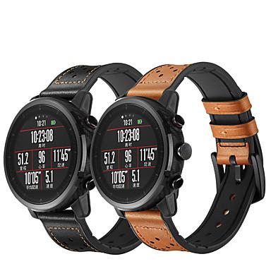 Недорогие Аксессуары для смарт-часов-ремешок для часов huami amazfit pace watch huami amazfit stratos smart watch 2 2s кожаный ремешок amazfit ремешок из натуральной кожи