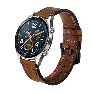 Недорогие Ремешки для часов Huawei-Ремешок для часов для Huawei Watch GT / магия чести huawei / Huawei Watch GT 2 Huawei Кожаный ремешок Натуральная кожа Повязка на запястье