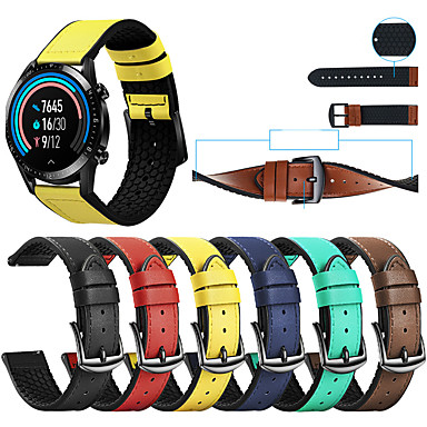 preiswerte Uhrenarmbänder für Huawei-ledersilikon uhrarmband für huawei uhr gt 2e / gt2 46mm / gt aktiv / magische uhr 2 46mm / honor magic / uhr 2 pro austauschbares armband armbandarmband