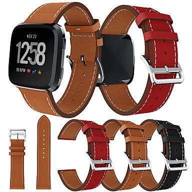 Недорогие Аксессуары для мобильных телефонов-Ремешок для часов для Fitbit Versa / Fitbi Versa Lite / фитбит наоборот 2 Fitbit Спортивный ремешок Натуральная кожа Повязка на запястье