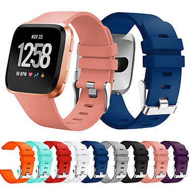 Недорогие Аксессуары для мобильных телефонов-Ремешок для часов для Fitbit Versa / Fitbi Versa Lite / фитбит наоборот 2 Fitbit Спортивный ремешок силиконовый Повязка на запястье