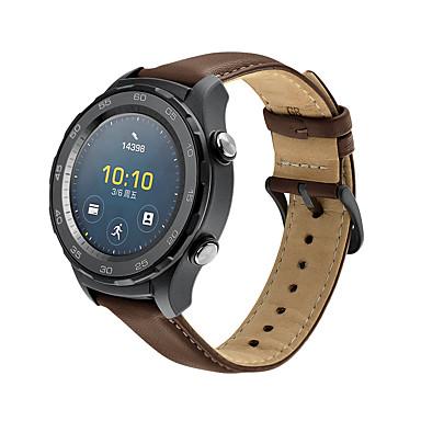 Недорогие Ремешки для часов Huawei-Ремешок для часов для Huawei Watch 2 Huawei Кожаный ремешок Натуральная кожа Повязка на запястье