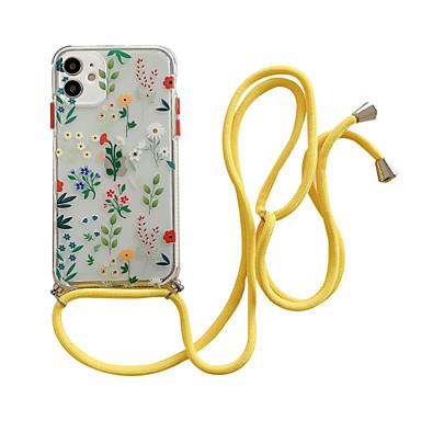 Недорогие Кейсы для iPhone-чехол для iphone 12/11 pro max / se2020 / xs max / xr xs 7/8 7/8 plus с рисунком на задней крышке с цветком tpu