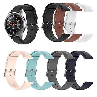 Недорогие Аксессуары для смарт-часов-Ремешок для часов для Samsung Galaxy Watch 42 / Samsung Galaxy Watch Active 2 / Galaxy Watch 3 41мм Samsung Galaxy Классическая застежка Натуральная кожа Повязка на запястье