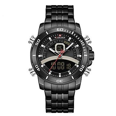 ieftine Ceasuri Digitale-NAVIFORCE Bărbați Ceas Sport Quartz Stil modern Sport Exterior Calendar Analog - Digital Negru Albastru piscină Auriu / Doi ani / Oțel inoxidabil / Japoneză / Cronograf / Luminos